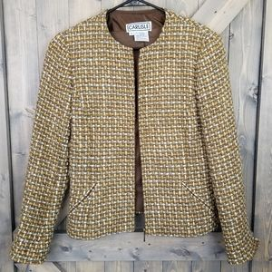 Carlisle Wool Tweed Blazer Zip UpSize 6
